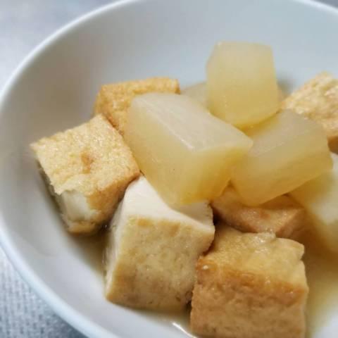 厚揚げ豆腐と大根の煮物