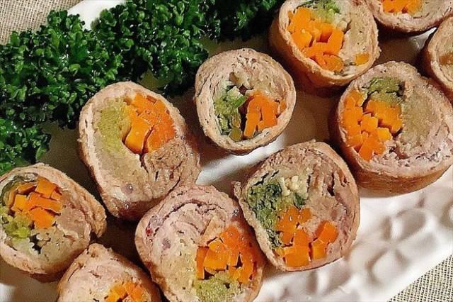 豚肉の野菜ロール