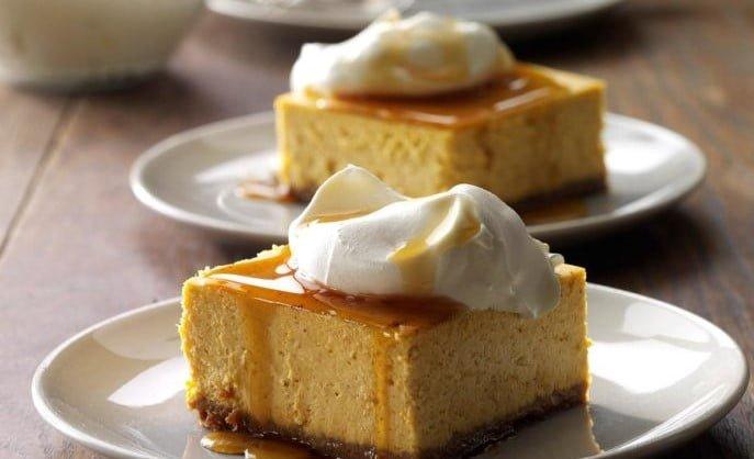 カフェ風カボチャチーズケーキデザート
