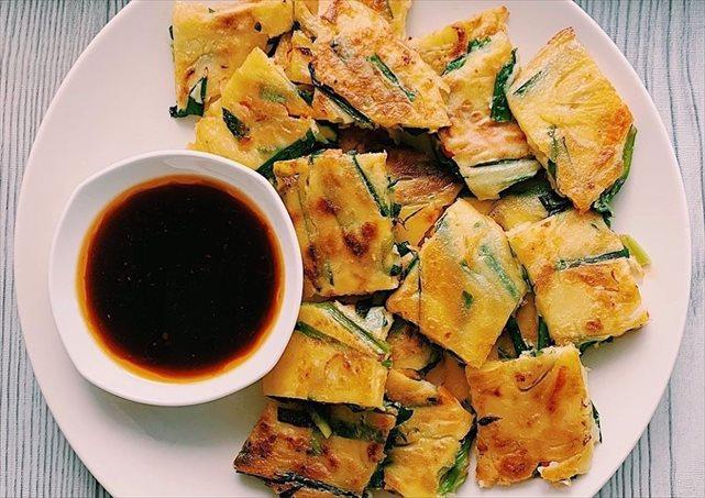 韓国料理のニラチヂミ