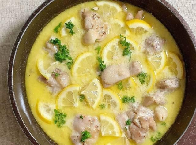 チキンとレモンのハニーマスタード煮込み