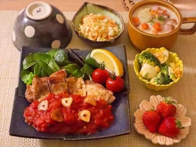 トマトソースのチキンソテー