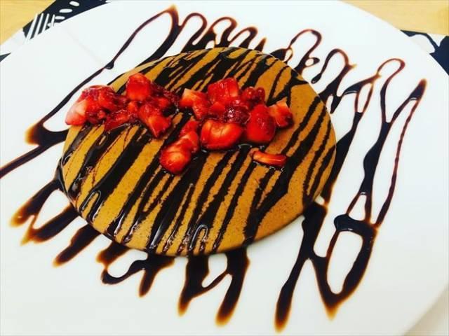 チョコプロテインパンケーキ