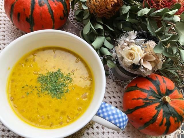簡単製法かぼちゃスープ