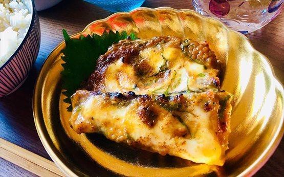 鯖の大葉味噌マヨ焼き