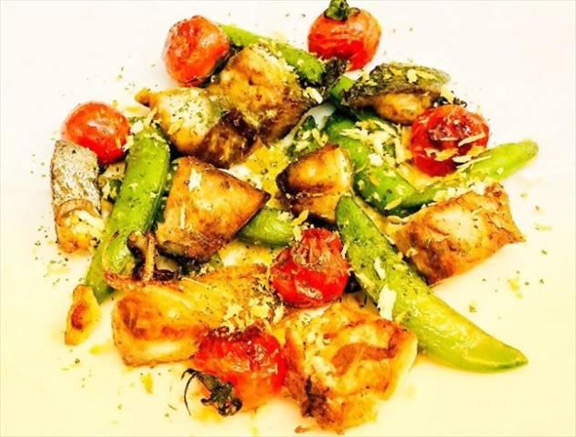 鯖と野菜のオリーブオイル焼き