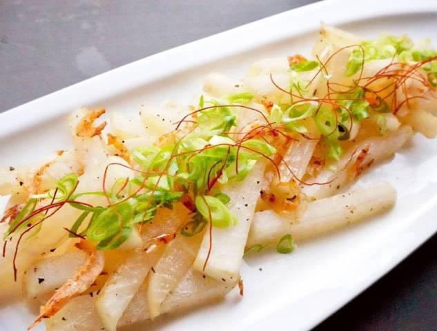 桜海老と大根の塩炒め