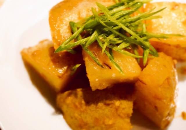 新ジャガイモの味噌炒め
