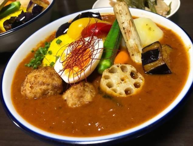 夏野菜たっぷりのスープカレー