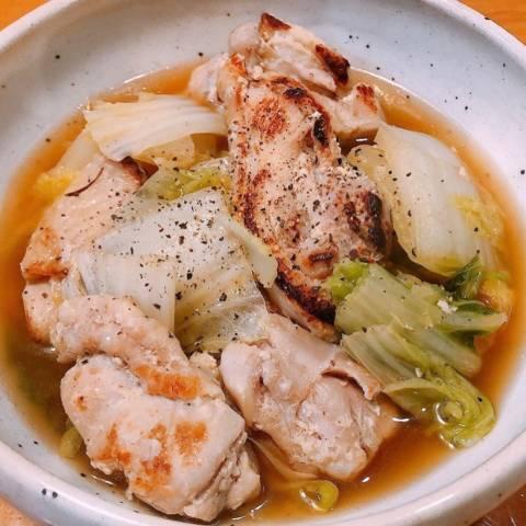 鶏肉と白菜のうま塩煮