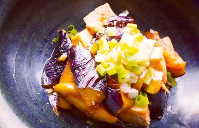 豆腐と茄子の炒り煮