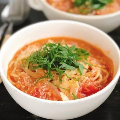 ツナとトマトのスープスパゲティ